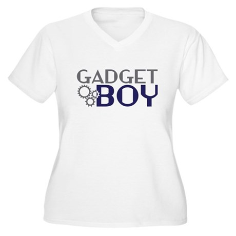 Gadget Boy Women's Plus Size V-Neck T-Shirt