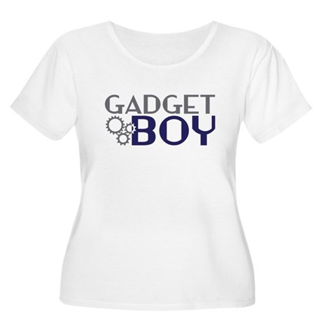 Gadget Boy Women's Plus Size Scoop Neck T-Shirt