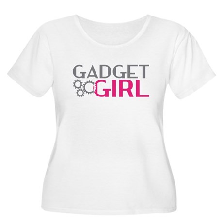Gadget Girl Women's Plus Size Scoop Neck T-Shirt