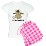 I Love Beavers Women's Light Pajamas