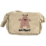 Hippopotamus Messenger Bag