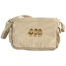 See No Evil Monkey Messenger Bag