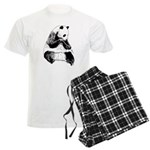 Hand Sketched Panda Men's Light Pajamas