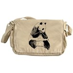 Hand Sketched Panda Messenger Bag