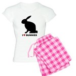 I Love Bunnies Women's Light Pajamas