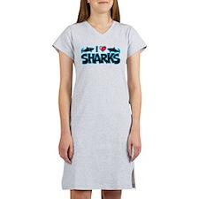 I Love Sharks Women's Nightshirt