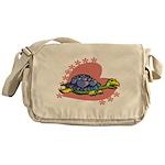 Heart Turtle Messenger Bag