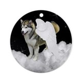 Malamute Angel Ornament (Round)