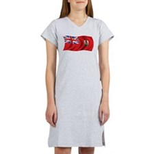 Wavy Bermuda Flag Women's Nightshirt