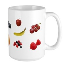 EAT FRUIT > large mug