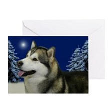 Peace Malamute Christmas Card