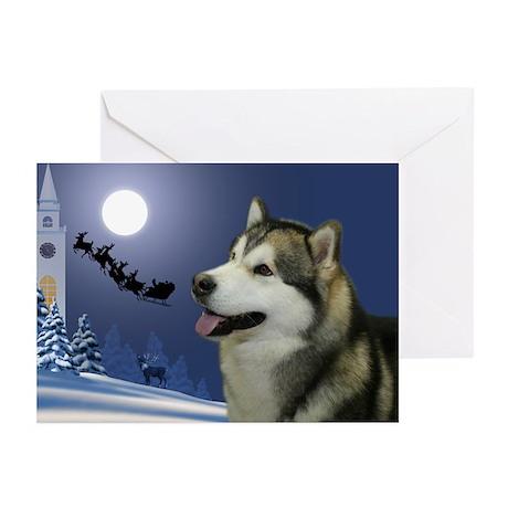 Santa's Malamute Cards (Pk of 10)