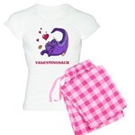 Valentinosaur Dinosaur Women's Light Pajamas