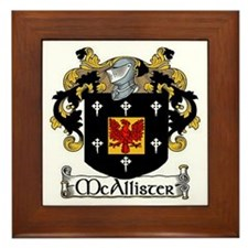 McAllister Coat of Arms Framed Tile