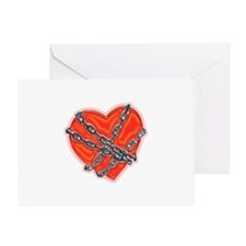 Chained Heart Valentine Greeting Card