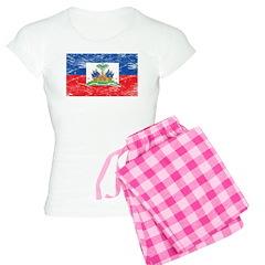 Vintage Haiti Flag Women's Light Pajamas