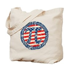 American Pi, Pie Distressed Tote Bag
