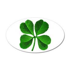 Lucky Charm 4-Leaf Clover Irish 38.5 x 24.5 Oval W