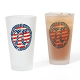 American Pi, Pie Distressed Drinking Glass