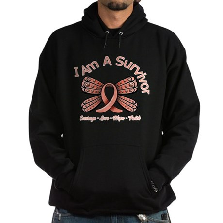 Uterine Cancer I 'm A Survivor Hoodie (dark)