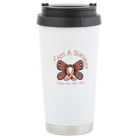 Uterine Cancer I 'm A Survivor Ceramic Travel Mug
