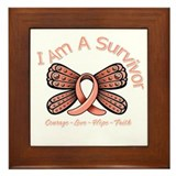 Uterine Cancer I 'm A Survivor Framed Tile