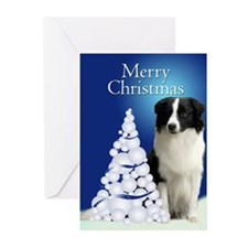 Border Collie Christmas Cards (Pk of 20)