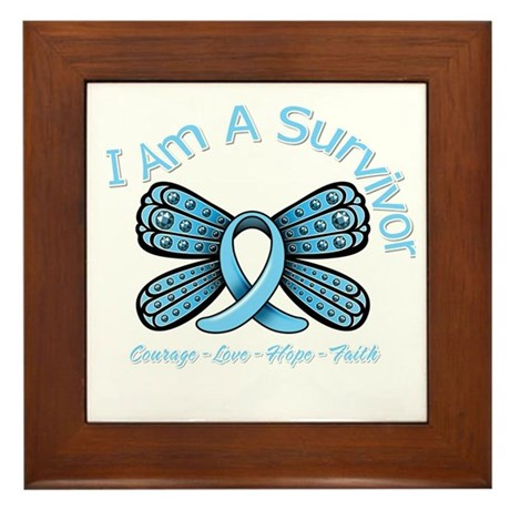 Thyroid Disease I'm A Survivor Framed Tile