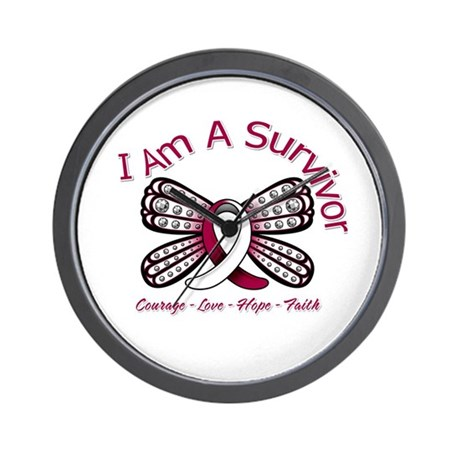 Throat Cancer I'm A Survivor Wall Clock