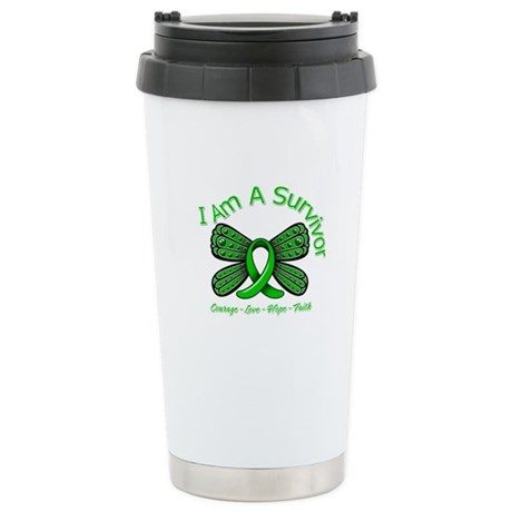 TBI I'm A Survivor Ceramic Travel Mug