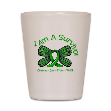 TBI I'm A Survivor Shot Glass