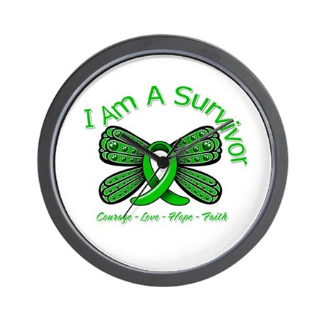 TBI I'm A Survivor Wall Clock