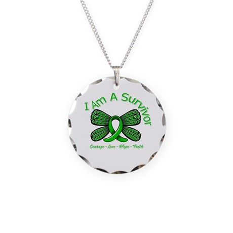 TBI I'm A Survivor Necklace Circle Charm