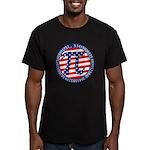 American Pi, Pie Men's Fitted T-Shirt (dark)