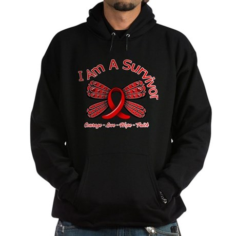 Stroke I'm A Survivor Hoodie (dark)