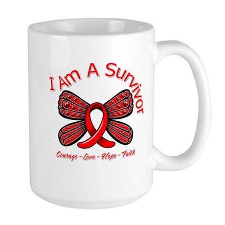 Stroke I'm A Survivor Large Mug