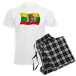 Wavy Lithuania Flag Men's Light Pajamas