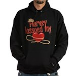 Harvey Lassoed My Heart Hoodie (dark)