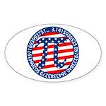 American Pi, Pie Sticker (Oval)