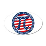 American Pi, Pie 38.5 x 24.5 Oval Wall Peel