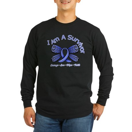 Stomach Cancer I'm A Survivor Long Sleeve Dark T-S