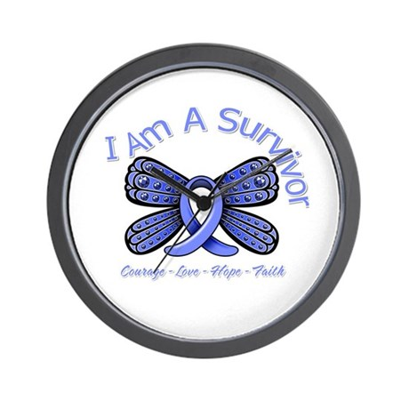 Stomach Cancer I'm A Survivor Wall Clock