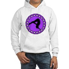 Gymnast in Purple Hoodie
