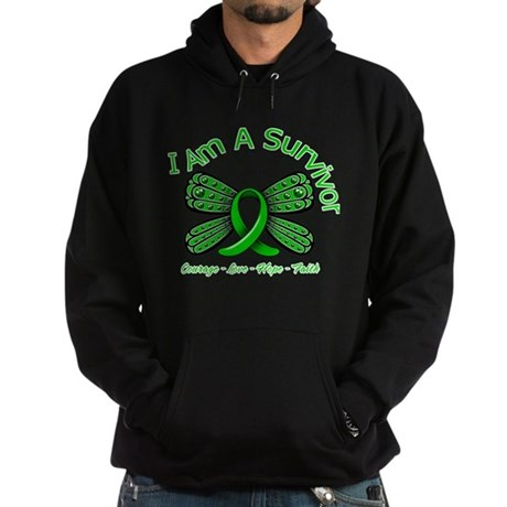 Spinal Cord Injury I'm A Survivor Hoodie (dark)