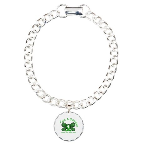 Spinal Cord Injury I'm A Survivor Charm Bracelet,