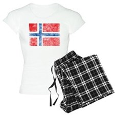Vintage Norway Flag Pajamas