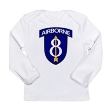 8th Infantry Airborne Long Sleeve Infant T-Shirt