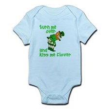 Kiss Me Clover Funny Irish Infant Bodysuit