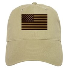 US FLAG HAT DESERT TAN
