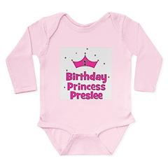 CUSTOM - PRESLEE - Long Sleeve Infant Bodysuit